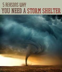 5 Reasons You Need A Storm Shelter in Your Home - As tornado and hurricane season approaches, we ask you: Have you invested in the safety of your home? Find out why getting a storm shelter is a decision you need to make now, not later. Survival Shelter, Survival Life, Survival Prepping, Emergency Preparedness, Survival Skills, Survival Equipment, Survival Gear, Tornado Survival, Doomsday Prepping