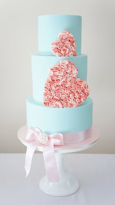 Hearts on the cake