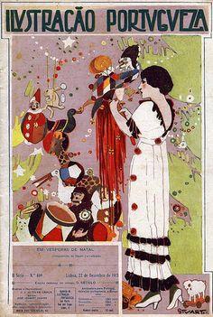 Ilustração de Stuart Carvalhais (1887-1961), para a capa da revista Ilustração Portuguesa, número 409, de 22 Dezembro de 1913.
