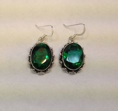 SaleSterling Silver9.25Genuine Green by AhsenGifts on Etsy, $45.00