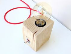 lampara taco madera - Buscar con Google