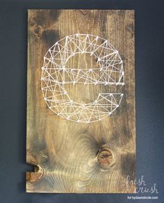 DIY String Art Projects - Initial String Art - Cool, Fun and Easy Letters, Patterns and Wall Art Tutorials for String Art - How to Make Names, Words, Hearts and State Art for Room Decor and DIY Gifts - fun Crafts and DIY Ideas for Teens and Adults http://diyprojectsforteens.com/diy-string-art-projects