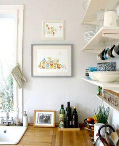 minimalist kitchen, love the open shelving