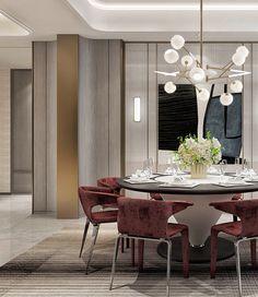 Ways Make Modern Dinning Room Interior Styles - Ideaz Home Luxury Dining Room, Dining Room Lighting, Dining Room Design, Dining Room Chairs, Dinning Table, Dining Set, Luxury Interior, Room Interior, Modern Interior