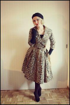 - Vintage leopard print coat.