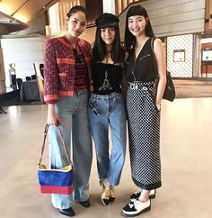 Spotted! the 3 it girls at #mademoiselleprive #chanelofficial in #Seoul Korea via @pookjongkol  via VOGUE THAILAND MAGAZINE OFFICIAL INSTAGRAM - Fashion Campaigns  Haute Couture  Advertising  Editorial Photography  Magazine Cover Designs  Supermodels  Runway Models