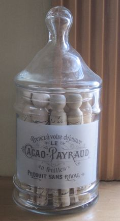 vintage french label apothecary jar.