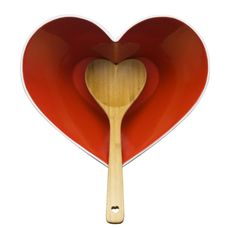 Sagaform Heart Bowl with Wooden Ladle