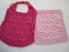 Hearts for Ruthie bib, cloth, and soaker free knitting patterns. More free knitting patterns at www.terrymatz.biz/intheloop