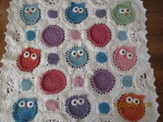 Owl Obsession baby blanket :: knitinnorcal Online Shop Oh wow, most precious thing I've ever seen, so cute!