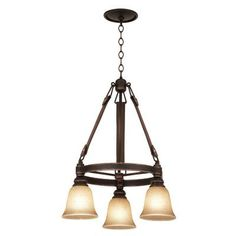 Kalco Rodeo Dr. 3 Light Pendant Shade Type: Faux Calcite - 1502, Finish: Antique Copper