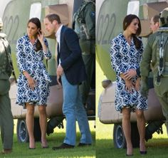 Kate & William in the Blue Mountains in Australia to meet with residents affected by bush fires in the region. April 17, 2014