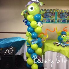 Monsters Inc. Decoration @Lizzy Santiago @Marisol Rivera-Morales & Monsters Inc. Movie theme Party Ideas | Pinterest | Monster ...