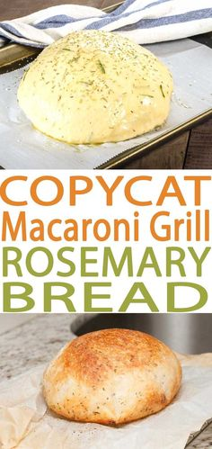 Best ever Macaroni Grill Bread Copycat Rosemary Bread recipe. This bread is wonderful to pair with many different soups. This is an easy bread recipe and one of our favorite copycat recipes. This is one of my favorites and the best recipe ever! Macaroni Grill Rosemary Bread Recipe, Macaroni Grill Bread, Macaroni Grill Recipes, Rosemary Bread Machine Recipe, Chicken Recipes, Salmon Recipes, Rosemary Olive Oil Bread Recipe, Rosemary Focaccia, Bread Machine Recipes