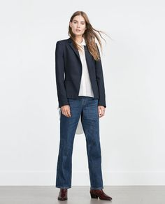 ZARA - WOMAN - DOUBLE FABRIC BLAZER