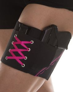 Love this item. I want so many of them :)  Amazon.com: Women's Gun Holster Garter - Concealed Weapon Thigh Carry for Ladies - Black with Black, Hot Pink, Purple, Green or NEW Denim Bl...