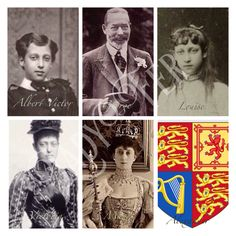 King Edward VII and Queen Alexandra's 6 Children (left to right eldest to youngest) Albert Victor, George (King George V), Louise, Victoria, Maud (Queen Maud of Norway), Alexander