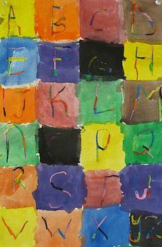 Kindergarten Alphabet Quilt from www.art-paper-scissors.blogspot.com