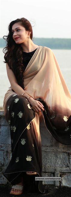 Pure silk georgette saree from eastandgrace.com
