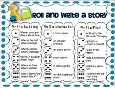 FREE roll and write a story