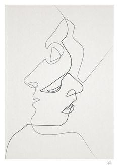 Close Art Print, black & white wall art, scandinavian wall art, monochrome…