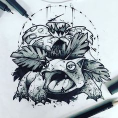 Tattoo Design Drawings, Tattoo Sketches, Drawing Sketches, Art Drawings, Anime Tattoos, Body Art Tattoos, Pokemon Sketch, Badass Drawings, Pokemon Tattoo