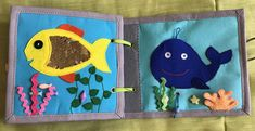Mini sensory book Fabric activity book Toddler quiet book   Etsy Diy Quiet Books, Baby Quiet Book, Felt Quiet Books, Binding Quiet Book, Book Texture, Sensory Book, Felt Letters, Busy Book, Kids Shows