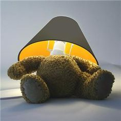"""Original pin comment -""""You could make this Teddy Bear Lamp!!!!  IDEA""""   (looks like a fire hazard.) W.Zepher"""
