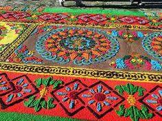 procesiones de semana santa en guatemala - alfombra de aserrín