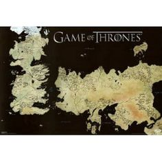 Game of Thrones Map Wall Poster
