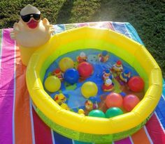Pick up the ducks game for 1st birthday party.  See more first boy birthday and party ideas at one-stop-party-ideas.com