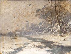 Heinrich Gogarten~Paar Winterlandschaften