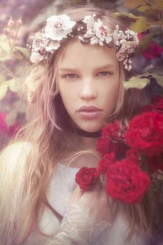 Romantically Rosy Editorials - The Little Thing Magazine 'Secret Rose Garden' Photoshoot is Dreamy (GALLERY)