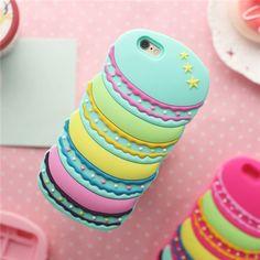 Macarons Cupcake Cake Scones Candy Muster Silikon für iphone 5 iphone 6 und iphone 6 plus - elespiel.com