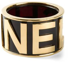 Chanel Vintage extra large logo bangle