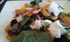 Beet Salad, Arugula, Goat Cheese, Orange Balsamic Vinaigrette.