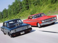 1964 Mercury Comet Caliente And Ford Fairlane 500 Are Perfect Examples Of Pro Street.