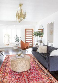 Cozy and Beauty Bohemian Living Room Design Ideas