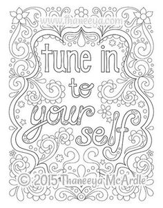 create your own reality from good vibes coloring book | Colored ...