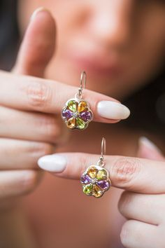 Your place to buy and sell all things handmade Peridot Earrings, Gemstone Earrings, Silver Earrings, Diamond Earrings, Drop Earrings, Or Rose, Rose Gold, Handmade Sterling Silver, Earrings Handmade