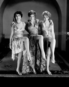 Dorothy Sebastian, Joan Crawford and Anita Page in Our Dancing Daughters