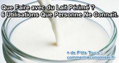 Une fois que vous aurez découvert les 6 utilisations du lait périmé, vous n'aurez plus envie de le jeter dans l'évier :-)  Découvrez l'astuce ici : http://www.comment-economiser.fr/utilisations-lait-tourne-caille.html?utm_content=buffer44e57&utm_medium=social&utm_source=pinterest.com&utm_campaign=buffer