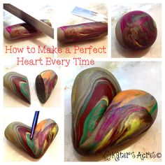 Simple and easy polymer clay tutorial for both a beetle bug and leafy heart pendant in Christi Friesen style. Plus, a chance to win a free heart pendant! Easy Polymer Clay, Polymer Clay Canes, Fimo Clay, Polymer Clay Projects, Polymer Clay Beads, Clay Crafts, Air Dry Clay, Clay Tutorials, Clay Creations