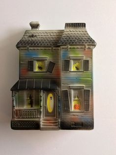 vintage halloween blow mold haunted house