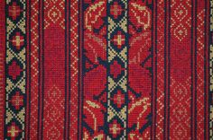 Detail View of Palestinian Cross-Stitch Embroidery