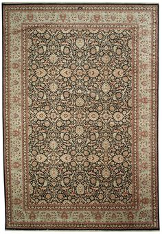 This beautiful Handmade Knotted Rectangular rug is approximately 10 x 15 New Contemporary area rug from our large collection of handmade area rugs with Persian Hamadan style from India with Wool
