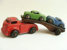 vintage Barklay car carrier circa 1950 (etsy)