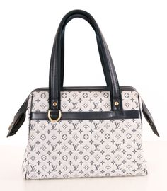 Louis Vuitton Blue Monogram Mini Lin Canvas Josephine PM Bag
