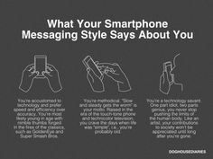 What ur smartphone txting style says about you. The last one OMG! Witty Comics, Tastefully Offensive, Good Humor, I Love To Laugh, Dog Houses, Decir No, Texts, Funny Pictures, Smartphone