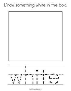Draw something white in the box Coloring Page - Twisty Noodle